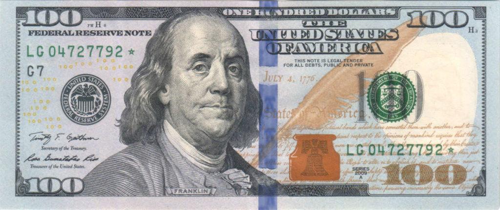 $100, franklin travel