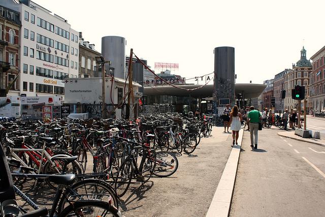 Велосіпеди біля станції Fuglebakken