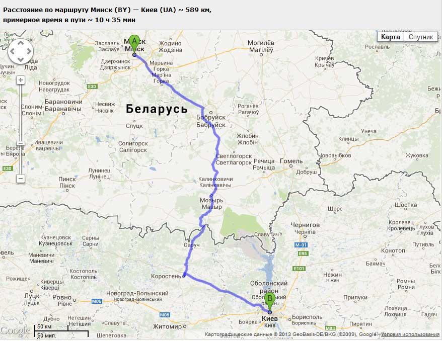 карта проходження маршруту